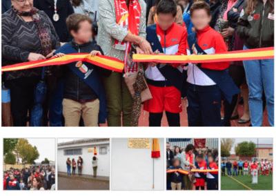 Fotografía de Evento. Inauguración Campo de Fútbol